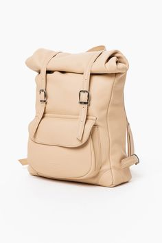 99b83b3ebc4 Rolled Backpack in natural by a kind of guise - Fair Fashion