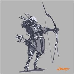 Tribal Archer 1/3 #sketch #doodle #drawing #inktober #characterdesign #artwork…