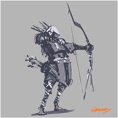 Tribal Archer 1/3 #sketch #doodle #drawing #inktober #characterdesign #artwork…