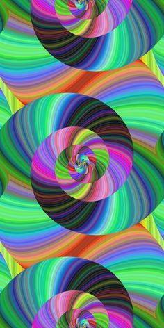 Abstract psychedelic seamless fractal swirl pattern design