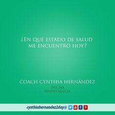 Día 344. En Presencia! En muchas ocasiones nuestra salud puede reflejar el estado interno en que nos encontramos #2day #coaching #cynthiahernandez2day #enpresencia #instaquote  #godspurpose #change #exito #tupuedes #journeyofachampion #dreams #lifecoaching