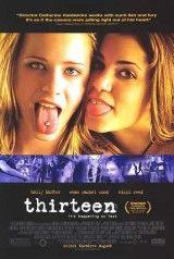 CINE(EDU)-888. Thirteen. Dir. Catherine Hardwicke. Drama. EEUU, 2003. Aos 13, a maioría dos adolescentes cren sabelo todo e estar en posesión da verdade. A vida dálle un xiro a Tracy unha aplicada estudante de 13 anos, cando Evie, a moza máis guapa e popular do colexio, faise a súa amiga e arrástralle a un mundo de sexo, crime e drogas. http://kmelot.biblioteca.udc.es/record=b1535122~S1*gag http://www.filmaffinity.com/es/film421895.html