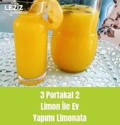 3 Portakal 2 Limon İle Ev Yapımı Limonata Hot Sauce Bottles, Fruit, Allah, Food, Kitchens, Meal, The Fruit, Essen, Hoods