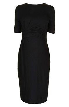 Topshop Pleat Waist Body-Con Maternity Dress available at #Nordstrom