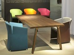 Table rectangulaire en bois DOBLE by Montis | design Gijs Papavoine