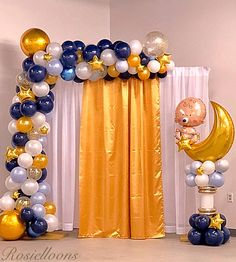 Star Decorations, Balloon Decorations, Birthday Party Decorations, Baby Shower Decorations, Balloon Ideas, Baby Shower Nails, Baby Shower Balloons, Baby Boy Shower, Mickey Mouse Backdrop