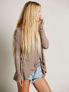 HAIR GOAL  Free People We The Free Sunset Park Thermal, $68.00