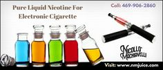 Niccollo Machiavielli Juice offers pure liquid nicotine for electronic cigarette and all of our juice is designed to have the perfect consistency.