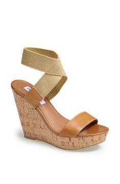 d28ee2a13523 Steve Madden Roperr Wedge Sandal in Brown (Tan Multi)