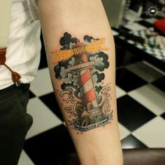 This brilliant little lighthouse was done by Maverick Ink