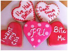 Anti Valentines Day Cookies    http://www.facebook.com/BakeLethbridge