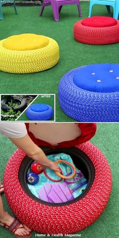 Home Discover Diy Furniture: diy-tire-furniture-ideas-you-can-actually-try Tire Seats Tire Chairs Lounge Chairs Tire Furniture Diy Garden Furniture Furniture Ideas Dream Furniture Rustic Furniture Furniture Design Tire Furniture, Diy Garden Furniture, Furniture Projects, Furniture Makeover, Dream Furniture, Rustic Furniture, Wood Projects, Furniture Design, Furniture Decor