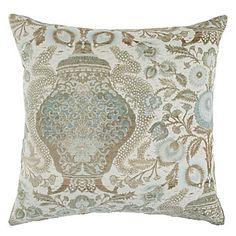 """Z Gallerie - Majesty Pillow 24"""" - Venetian Blue"""
