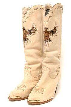 d50bd36e023b9 Zodiac Vintage Eagle-Feather Inlay Boots. I have had these for years and  only