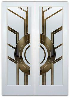Art deco door, art deco decor ve art deco design. Verre Design, Glass Design, Door Design, Entrance Design, Motif Art Deco, Art Deco Design, Arte My Little Pony, Art Nouveau, Art Deco Door