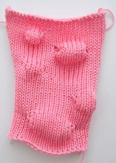 Machine knit bumps