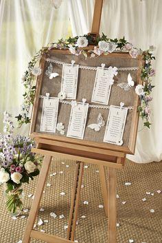 DIY Vintage Wedding Table Chart -