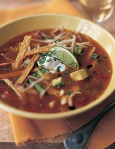 BRRR! IT'S COLD!  Ina's Mexican chicken soup