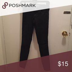 Black express size 0 faded wash skinny jean Jean legging Express Jeans Skinny