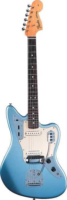 I don't know much about guitar makeup and sound, but this looks like it would be awesome to shred. Fender Jaguar (Ice Blue Metallic)