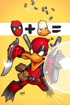 Deadpool and Howard the Duck Will Meet in 2017  Two of the weirdest heroes in the Marvel Universe will be joining forces early next year. Today at NYCC Marvel announced that Deadpool and Howard the Duck will star a new mini-series called Deadpool the Duck.   Deadpool the Duck #1 cover by David Nakayama  This unlikely alliance comes as Deadpool is tasked by S.H.I.E.L.D. to track down a wayward alien and runs into Howard. Somehow the two become fused into one bizarre half-human half-bird new…