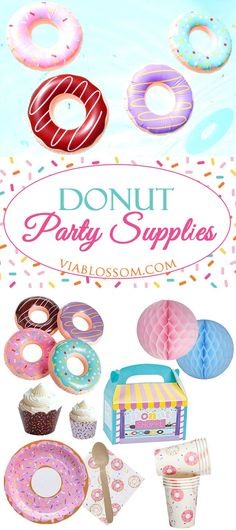 You will die over our selection of Donut Party Supplies and Decorations!! They are perfect for a Doughnut Party! #donutparty #donutbirthday #donutpartytheme