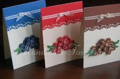 Loved these quilled greeting cards!