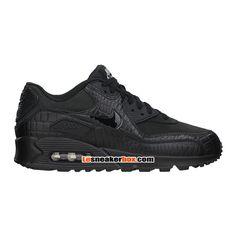 chaussures-nike-basket-pas-cher-pour-femme-nike-wmns-air-max-90-premium-gs-noir-443817-003-822.jpg (750×750)