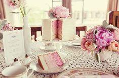 pink layer cake :)