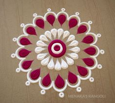 Here are some very easy and simple rangoli designs you can make them at any festival. Simple rangolis are the best choice. Simple Rangoli Border Designs, Easy Rangoli Designs Diwali, Rangoli Designs Latest, Rangoli Designs Flower, Free Hand Rangoli Design, Small Rangoli Design, Rangoli Ideas, Rangoli Designs With Dots, Beautiful Rangoli Designs