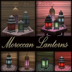Moroccan Lanterns for purchase or to gain ideas.