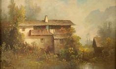 Mulley, Oskar 1891 Klagenfurt - 1949 Garmisch Berghof. Signiert. Öl/Platte, 41,5 x 70 cm
