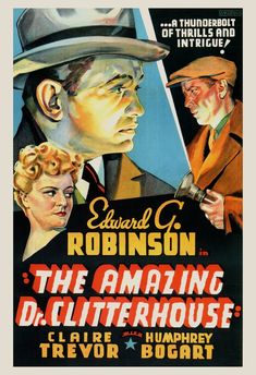 VINTAGE MOVIE POSTER  Humphrey Bogart Poster  Edward G   Etsy