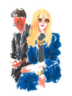 Who: Rachel Zoe Where: Chloé at the Jardin des Tuileries Mood: Posing without appearing to be posing Look: Seventies Californian glam By Damien Florébert Cuypers Inspiration Art, Art Inspo, Art Sketches, Art Drawings, Art Du Croquis, Oil Pastel Art, Art Et Illustration, Art Design, Logo Design