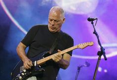 David Gilmour on stage
