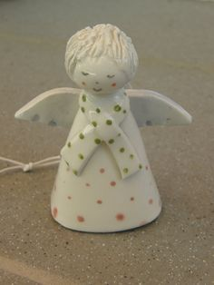 Ceramic Angel Bell Christmas Angel Ceramic Bell by TatjanaCeramics, $13.00