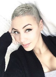 Black Pixie Cut for Thick Hair - 20 Sassy and Sexy Black Pixie Cuts - The Trending Hairstyle Short Grey Hair, Short Hair Cuts, Short Hair Styles, Gray Hair, Pixie Hairstyles, Pixie Haircut, Cool Hairstyles, Haircuts, Black Pixie Cut