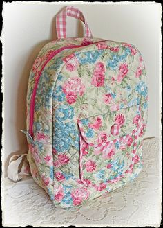 Quilted back pack
