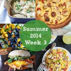 Great weekly meal plans focusing on eating all colors of the rainbow.