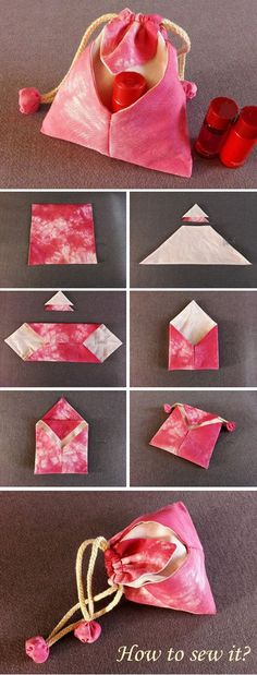 Japanese Omiyage Gift Bag 2019 Japanese traditional Bag DIY Tutorial www.free-tutorial The post Japanese Omiyage Gift Bag 2019 appeared first on Bag Diy. Diy Bags Tutorial, Pouch Tutorial, Origami Bag, Fabric Origami, Sewing Tutorials, Sewing Crafts, Sewing Projects, Sewing Patterns, Makeup Tutorials
