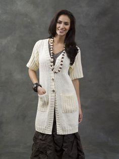 Free Knitting Pattern - Women's Jackets & Outerwear: Cable Yoked Tunic Jacket