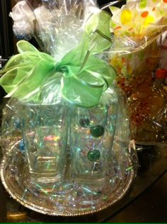Set of 4 wire wrapped drinking glasses - $25.00/set