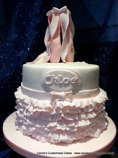 Ballet shoes and tutu, my cake but not my design. Love this cake :D
