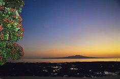 Sunrise over Rangitoto island, an active volcano near Auckland, New Zealand.