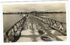 RPPC Floating Bridge Chemong Lake Ontario Canada Postcard Peterborough Ontario, Delish, Bridge, Canada, Fan, Spaces, History, Sweet, Vintage