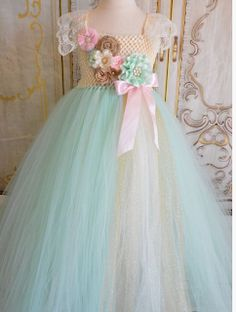 Items similar to Vintage Mint Flower girl tutu dress on Etsy Flower Girls, Flower Girl Tutu, Flower Girl Dresses, Girls Tutu Dresses, Tutus For Girls, Little Girl Dresses, Pageant Dresses, Party Dresses, Diy Tutu