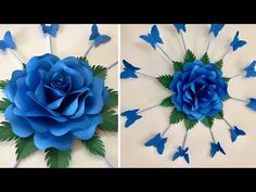 This beautiful paper rose wall hanging will enhance beauty of your home wall. Paper Flowers Craft, Paper Flower Wall, Giant Paper Flowers, Flower Crafts, Diy Flowers, Paper Crafts, Hanging Flower Wall, Flower Wall Decor, Flower Decoration
