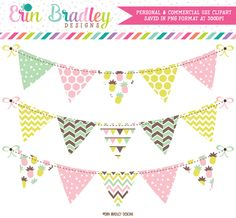 Fun Pineapples Clipart Bunting – Erin Bradley/Ink Obsession Designs