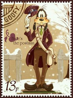 Goofy stamp<<<So Kawaii ^_^ Walt Disney, Goofy Disney, Disney Pixar, Disney Magic, Disney Posters, Disney Cartoons, Disney Dream, Disney Love, Mickey Mouse And Friends