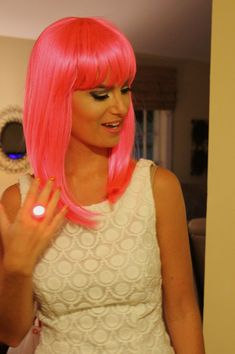 Bachelorette party idea - Wig out night all the girls wear a funky wig and get dressed up for the night out